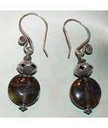 .925 Sterling Silver Handmade Labradorite Earrings OOAK - $20.00