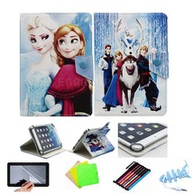"Kids Princess Elsa Anna Olaf Leather Case Cover for 7"" ASUS MeMO PAD HD ... - $11.99"