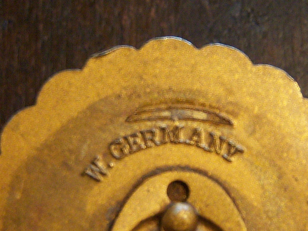 Western Germany Vintage Scarf Clip. Germany Scarf Clip. W Germany Scarf Clip.