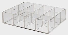 MoMA MUJI Acrylic box with a large overlap partition 12 SECTION - $39.88