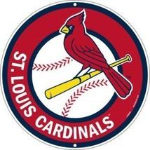 St Louis Cardinals 12 inch Baseball Style Metal... - $10.88