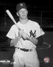 Mickey Mantle Bat New York Yankees Vintage 8X10 BW Baseball Memorabilia Photo - $4.99