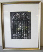 Pencil Signed Numbered David Suff PARADISE COURTYARD Etching #97/200 Framed - $20.00