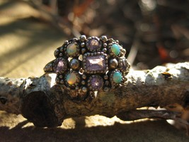 Haunted Ring Baby Dragon Spirit 925 sterling opal amethyst - $177.77