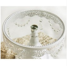 Lace Cake Stand Cake Tray Glass Crystal Wedding Decoration 10 inch Bakew... - $46.27