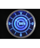 Chicago Cubs Neon/LED Wall Clock Available in Blue, Green and Red - $54.99