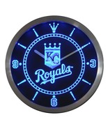 Kansas City Royals Neon/LED Wall Clock Available in Blue, Green and Red - $54.99