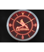 St. Louis Cardinals Neon/LED Wall Clock Available in Blue, Green and Red - $54.99