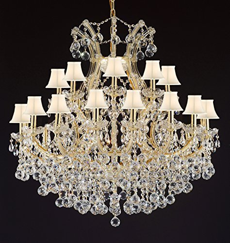 Theresa Empress Crystaltm Chandelier Lighting With White Shades