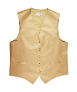 New polyester men's tuxedo vest waistcoat only solid wedding formal beige - $19.49