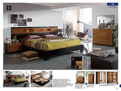 ESF Sal 9 Bedroom Set Storage King 5 Piece Modern Contemporary Made in Spain
