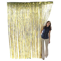 Shimmer Door Curtains Fringe Metallic Foil Tinsel Various Colors Packs 3... - $5.89+