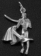 COOL Sterling Silver 925 bull fighter Pendant Charm Jewelry - $20.25