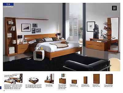 ESF 114 Bedroom Set King 5 Piece Bed Modern Contemporary Made in Spain
