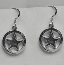 COOL Wild West Badge Sterling Silver earrings Sheriff cowboy - $28.68