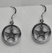 COOL Wild West Badge Sterling Silver earrings Sheriff cowboy - $28.68