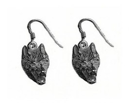 COOL Wolf Lycan Gothic werewolf Earrings Sterling silver 925 - $45.56