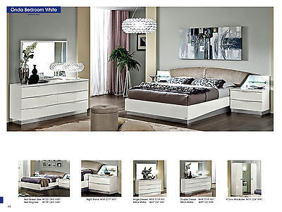 ESF Onda Bedroom Set Queen 5 Piece Bed Modern Contemporary Made in Italy