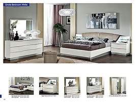 ESF Onda Bedroom Set Queen 5 Piece Bed Modern Contemporary Made in Italy