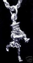 Nursery Rhyme Pied Piper Flute Silver Charm Jewelry - $17.26
