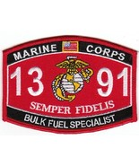 "USMC ""BULK FUEL SPECIALIST"" 1391 MOS MILITARY PATCH SEMPER FIDELIS MARIN... - $10.99"