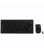 Mini 2.4G DPI Wireless Keyboard and Optical Mouse Combo Black for Desktop  - $14.99