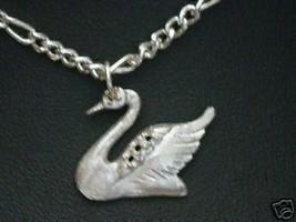 Swan Bird Sterling Silver Charm pendant Jewelry .925 - $14.36