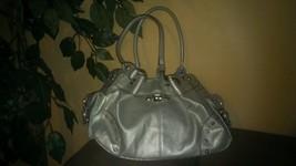 GREAT Kathy Van Zeeland- Hand Bag SILVER Color Purse - EXCELLENT Condition - $29.00