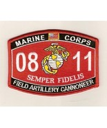 "USMC ""FIELD ARTILLERY CANNONEER"" 0811 MOS MILITARY PATCH SEMPER FIDELIS - $10.99"