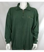Vtg Ferruche Sweater Mens Sz XXL 1/4 Zip Terry Fleece Pullover Green Lon... - $16.81
