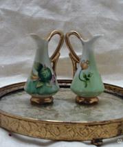 Set of two vintage Miniature UCAGCA Japan Pitcher // Ewer Vases - $14.00