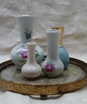 Vintage Collection of 4 Miniature Decorative Vases  - $11.00
