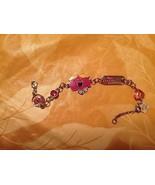 "Sanrio Thoip Mr Men Little Miss Chatterbox Chain Charm Bracelet 8"" w Ext... - $12.99"