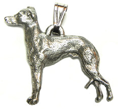 Italian Greyhound Pendant Dog Harris Fine Pewter Made in USA jewelry - $10.99