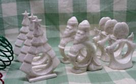 8 Vintage Christmas Napkin Holders - Christmas Table // Angels // Trees ... - $18.00