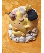 Vintage 1998 Kids Line Kitty Kitten Over The Moon Coin Money Bank Very R... - $17.99