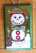 Hand Crafted Snowman Electric Double Outlet Wall Plate Cover Ornaments x4 image 4