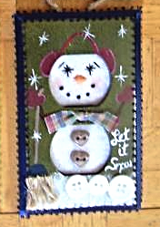 Hand Crafted Snowman Electric Double Outlet Wall Plate Cover Ornaments x4 image 5