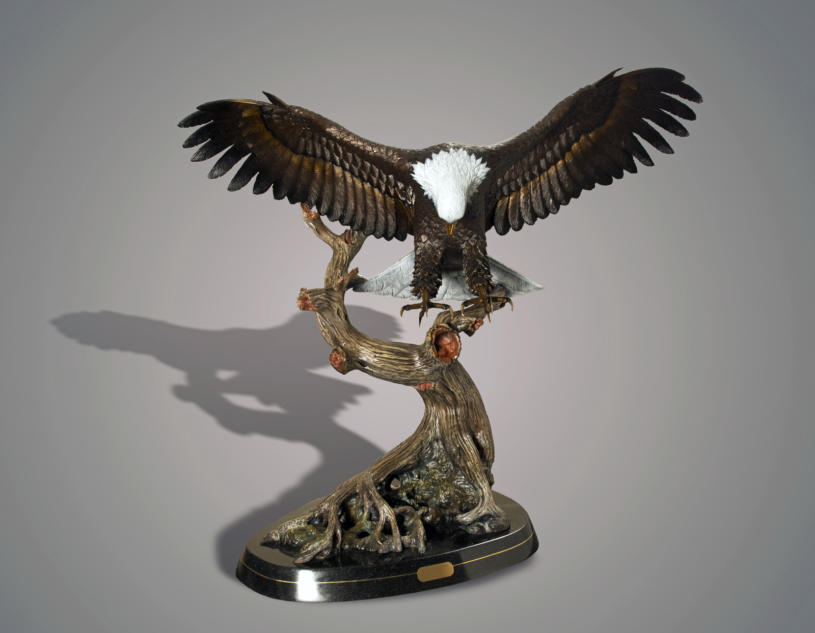 Life size magnificent eagle bronze wings of fury for Wings of fury