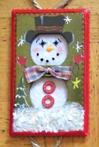 Hand Crafted Snowman Electric Double Outlet Wall Plate Cover Ornaments x4 image 2