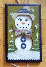 Hand Crafted Snowman Electric Double Outlet Wall Plate Cover Ornaments x4 image 3
