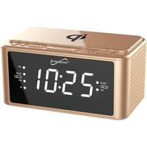 Supersonic SC-6030QI-GD Clock Radio with Qi Wireless - $64.75
