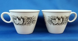 Franciscan Bird N Hand Tea Cups Set of 2 Whitestone Ware Coffee ca 1967 - $8.36