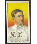 CHRISTY MATHEWSON Card RP #308 Portrait Giants Ty Cobb bk 1909 T206 Free Shippin - $2.75