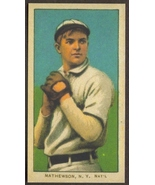 CHRISTY MATHEWSON Card RP #309 White Cap Giants Sweet Caporal bk 1909 T206 - $2.75