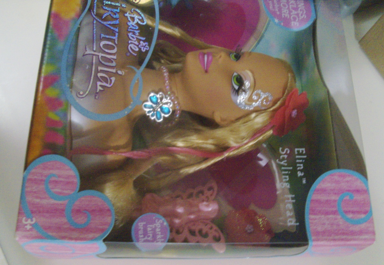 Barbie Fairytopia Elina Styling Head doll ( Monster High Liv Bratz ) - New