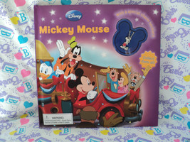 Disney MICKEY MOUSE Let's Go to the Fire Station Book w/ CHARM NECKLACE ... - $5.95