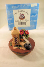 Candle Capper Topper Holiday Lantern for Std Jars NIB by Our America - £11.81 GBP