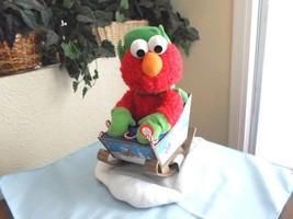 Animated Singing Rocking Elmo Motionette Christmas Display Figure - $29.99