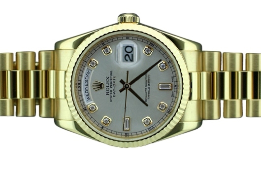 Yellow gold rolex presidential Day Date watch mens